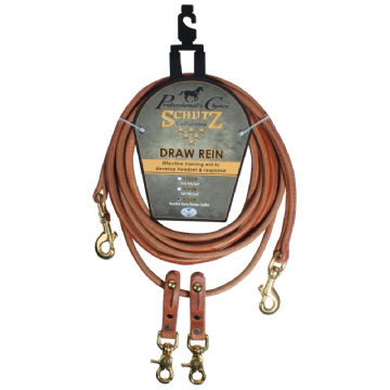 Schutz Brothers Rounded Leather Draw Reins